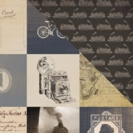 CARTA BELLA PAPER  - OLD WORLD TRAVEL COLLECTION - 3X3 CARDS