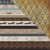 CARTA BELLA PAPER - OLD WORLD TRAVEL - BORDER STRIPS