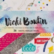 AMERICAN CRAFTS - VICKY BOUTIN - MIXED MEDIA PAPER PAD