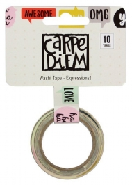 WASHI TAPE - CARPE DIEM - EXPRESSIONS - SIMPLE STORIES