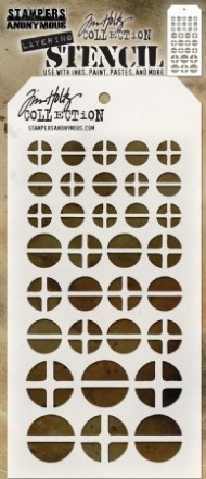 STENCIL SCREWED TIM HOLTZ - STAMPERS ANONYMOUS