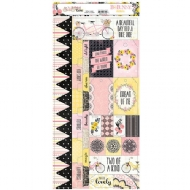 BOBUNNY - PETAL LANE COLLECTION - CARDSTOCK STICKERS