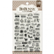 BO BUNNY  -  ICONS STAMP - CLEAR ACRYLIC STAMP