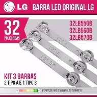 Barra Led Tv  Lg 32lf5100 32lf5500 32lf550b 3 Barras  Agf78400101