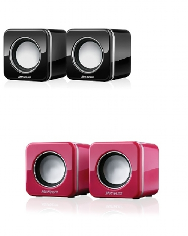 CAIXA DE SOM USB 2.0 MINI BLACK OU PINK PIANO