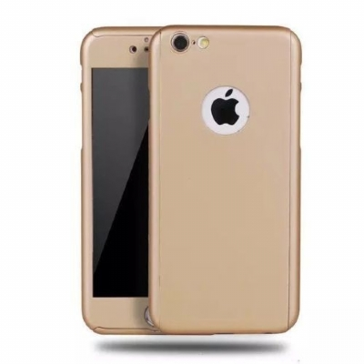 Capinha Case 360 Híbrida Luxo Dourado Iphone 7 Plus / Iphone 8 Plus.