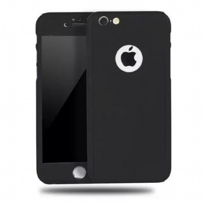 Capinha Case 360 Híbrida Luxo Preto Iphone 7 Plus / Iphone 8 Plus.