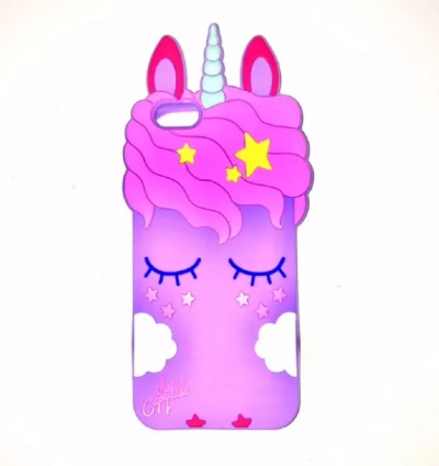 Capinha Unicornio Novo Lilais 3D  Iphone 7 Plus / 8 Plus