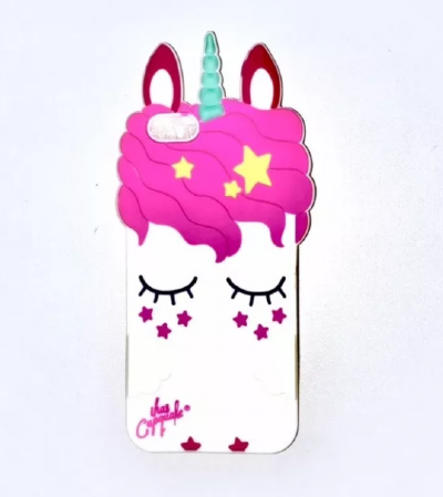 Capinha Unicornio Novo Branco 3D  Iphone 7 Plus / 8 Plus