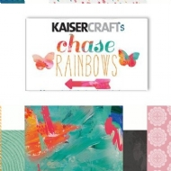 Kit c/ 6 Papeis Scrapbook 12x12 Pol - CHASE RAINBOWS - KAISER CRAFT