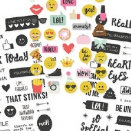 "Simple Stories - Emoji Love - Clear Stickers 4""x 6"""
