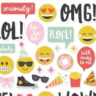 Simple Stories - Emoji Love Combo Cardstock Stickers