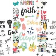 "Simple Stories -  Faith - Clear Stickers 4""x 6"""