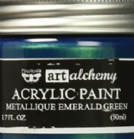 TINTA ACRÍLICA - PRIMA MARKETING - FINNABAIR - ART ALCHEMY - METALLIQUE EMERALD GREEN