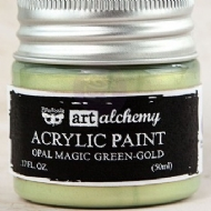 TINTA ACRÍLICA - PRIMA MARKETING - FINNABAIR - ART ALCHEMY - OPAL MAGIC GREEN-GOLD