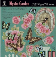 CARTELA DE ENFEITES MYSTIC GARDEN PAPER TOLE- HOT OFF THE PRESS