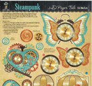 CARTELA DE ENFEITES STEAMPUNK FOIL PAPER TOLE HOT OFF THE PRESS
