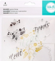 WE R MEMORY KEEPERS - BANNER LAYERED STAMPS - THANKS E HELLO