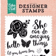 ECHO PARK - JUST BE YOU COLLECTION - CLEAR ACRYLIC STAMPS - DO AMAZING THINGS
