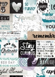 PRIMA MARKETING - ZELLA TEAL COLLECTION - CARDSTOCK STICKERS - WORDS WITH FOIL ACCENTS