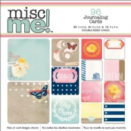 KIT CARTÕES VARIADOS 96 PECAS - SWEET LIFE MISC ME POCKET SQUARES JOURNALING CARDS