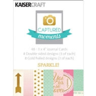 KAISERCRAFT - CAPTURED MOMENTS 3X4 CARDS - SPARKLE!