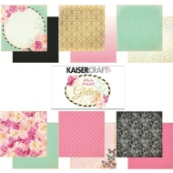 KAISERCRAFT ALL THAT GLITTERS PAPER PACK WITH BONUS STICKER SHEET