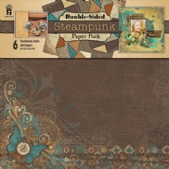 HOT OFF PRESS  - STEAMPUNK - SCRAPBOOKING PAPER PAD
