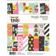 Kit de Papéis p/Scrapbook 30,5 x 30,5cm - Emoji Love - Simple Stories