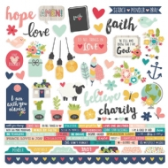 Simple Stories - Faith Combo Cardstock Stickers