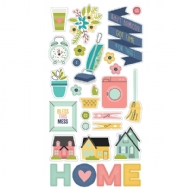 SIMPLE STORIES - DOMESTIC BLISS - CHIPBOARD STICKER