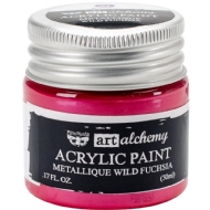 TINTA ACRÍLICA - PRIMA MARKETING - FINNABAIR - ART ALCHEMY - METALLIQUE WILD FUCHSIA