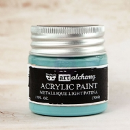 TINTA ACRÍLICA - PRIMA MARKETING - FINNABAIR - ART ALCHEMY - METALLIQUE  LIGHT PATINA