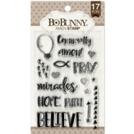 BO BUNNY - AMEN STAMP - CLEAR ACRYLIC STAMP