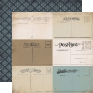 CARTA BELLA PAPER - OLD WORLD TRAVEL COLLECTION - DOUBLE SIDED - DEAR TO ME