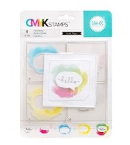 WE R MEMORY KEEPERS - STAMP KIT - HELLO