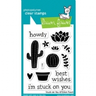 LAWN FAWN - CLEAR ACRYLIC STAMPS - STUCK ON YOU