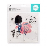 WE R MEMORY KEEPERS - BANNER LAYERED STAMP - ROSE