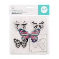 WE R MEMORY KEEPERS - BANNER LAYERED STAMP - BUTTERFLY