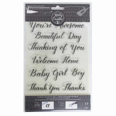 ACRYLIC STAMPS - AMERICAN CRAFTS - KELLY CREATES - SENTIMENT