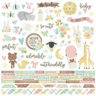SIMPLES STORIES - OH BABY! - STICKERS COMBO