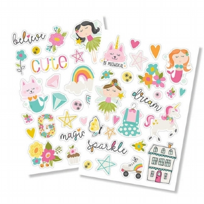 SIMPLE STORIES - DREAM BIG - PUFFY STICKERS