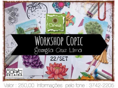 WORKSHOP COPIC DIA 22.09.18 - 14H COM GEÓRGIA CRUZ