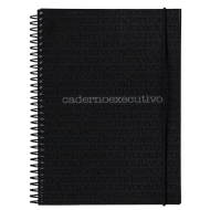 Caderno Executivo Notes Preto - 96 Folhas