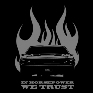 CAMISETA CARRO - IN HORSEPOWER WE TRUST
