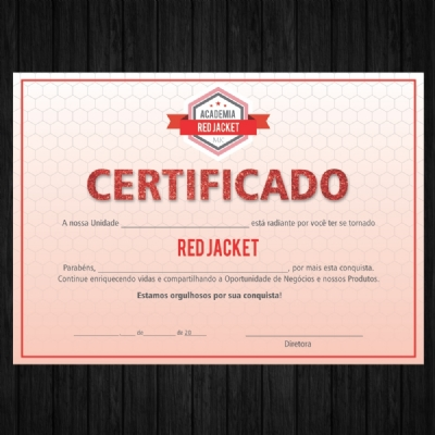 Certificado Red Jacket