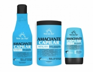 KIT AMACIANTE CAPILAR TRATAMENTO NEW LISS HAIR SHAMPOO + MASK 1KG + LEAVE-IN 150ML