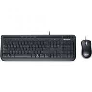 Teclado Microsoft Multimídia + Mouse Basic Óptico Wired Desktop 600 Preto 3J2-00006