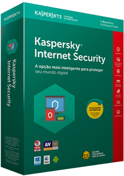 Anti Virus Kaspersky Internet Security  ( Licença de 1 ano )