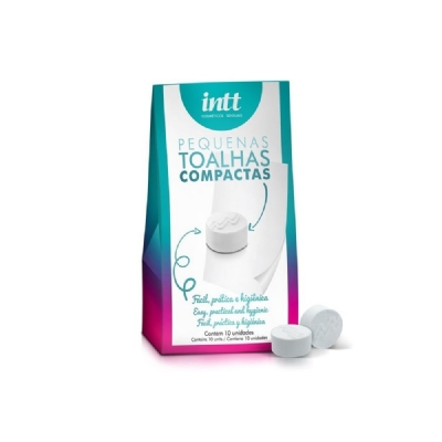 KIT 10 TOALHAS COMPACTAS - INTT